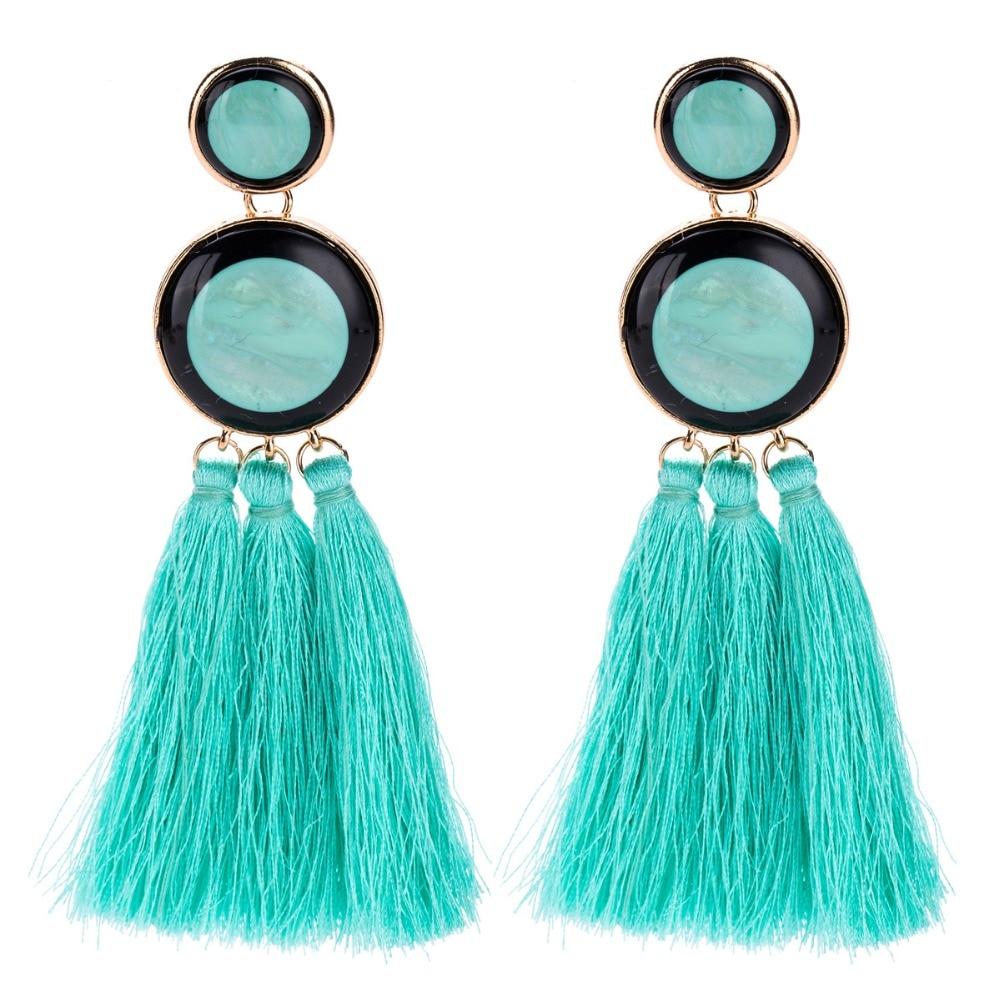 Red tassel Earrings Fashion long Drop Dangle Earrings Vintage Ethnic Statement Jewelry For Women big large earing bohemian