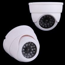 야외 실내 보안 ABS 더미 CCTV 가짜 ip 카메라 비디오 감시 돔 카메라 깜박이 LED 빛 안전 장비