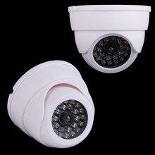 Câmera de vídeo vigilância interna abs, manequim cctv falsa ip uso externo equipamento de segurança