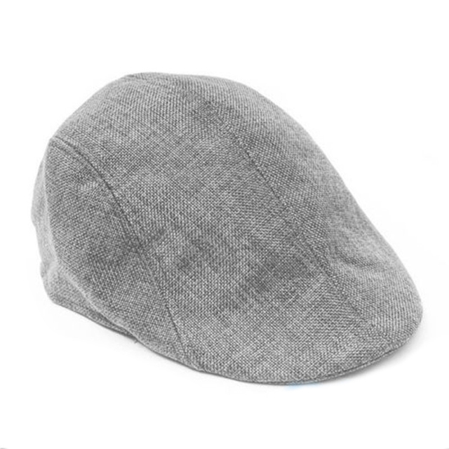 Fashion Duckbill Baggy Beret Hat Classic cotton Gatsby Cap Golf Sport  Outdoor Flat Winter Hat Grey 7dbe388b5ad
