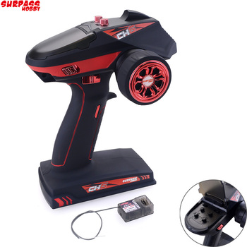 Surpass Hobby 2.4G 6CH Super Response Radio System Transmitter with Receiver For RC Car Boat Tank Water skateboard