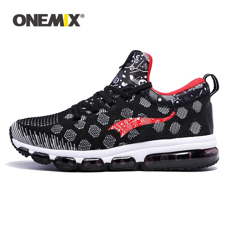 Onemix Running Shoes for men women s Sneakers Elastic Women Jogging Shoes Black Trainers Sport Shoes