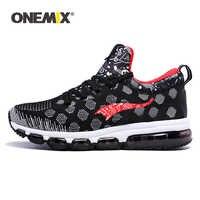 ONEMIX ランニングシューズ男性の女性のためのスニーカー弾性女性黒トレーナースポーツアウトドアジョギングウォーキング