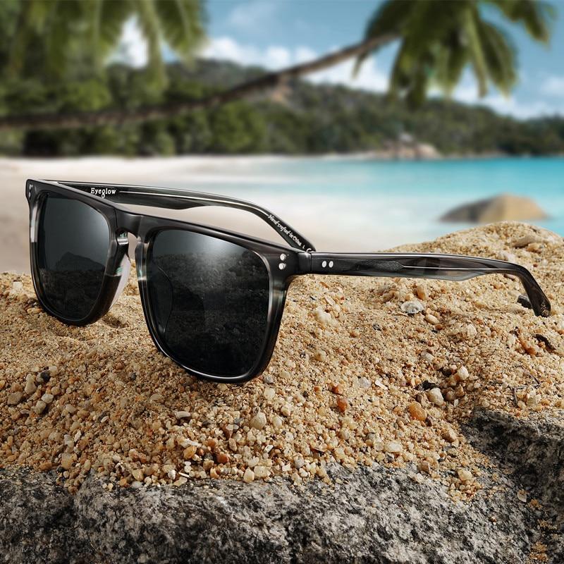 Cubojue Glass Mens Sunglasses Polarized Women Famous Brands Acetate Sun Glasses For Man Driving 141-165mm Wide Male Tortoise