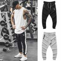 Gymnases marque été Fitness hommes Pantalon élastique respirant Pantalon de survêtement gris cordon Pantalon Pantalon à glissière Pantalon Homme