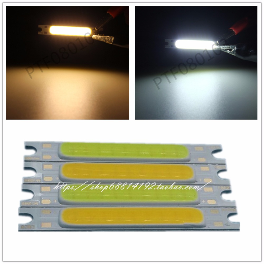 10pcs 3W White COB High Power LED Stripe LED Light Emitting Diode Panel 12V