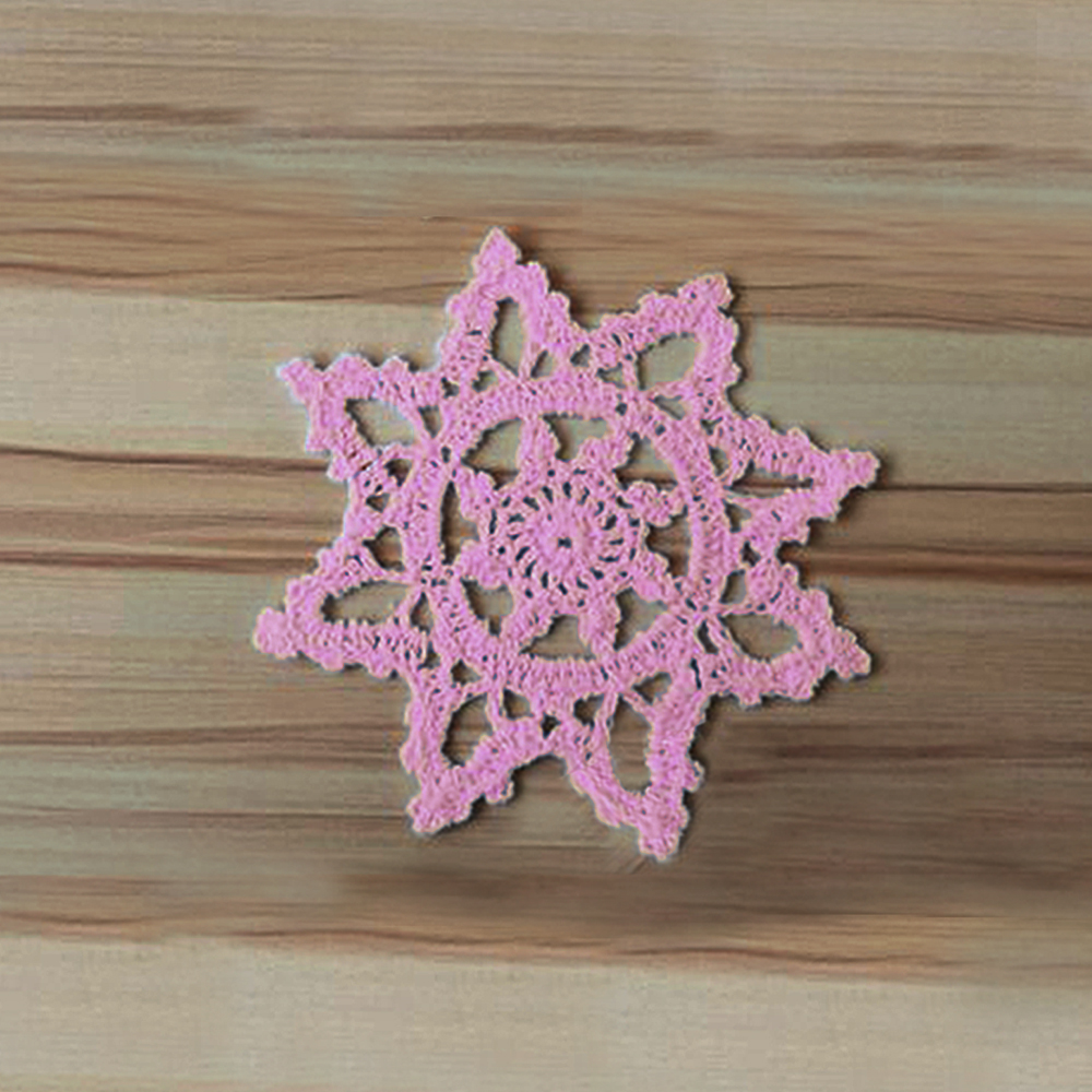 Handmade table mats design - Yazi 4pcs Handmade Coasters Cotton Hollow Snowflake Placemat Round Doily Pads Crochet Table Mat Table Cover Placemat In Mats Pads From Home Garden On