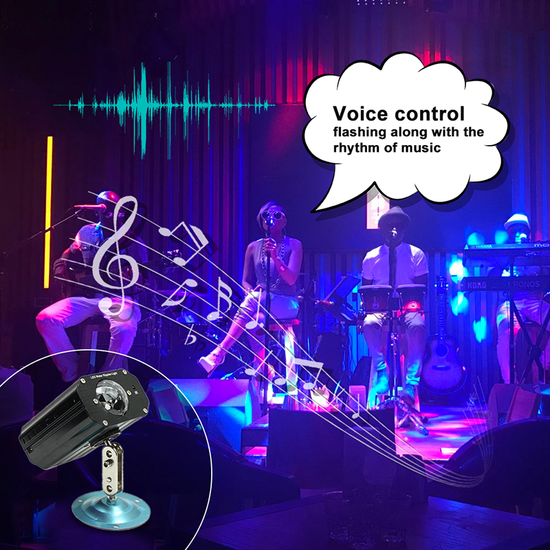 Voice Control LED Stage Lights 110V 220V Projector Laser Lighting Effect Colorful Holiday Wedding Party DJ Disco Lamp Light Show rg mini 3 lens 24 patterns led laser projector stage lighting effect 3w blue for dj disco party club laser