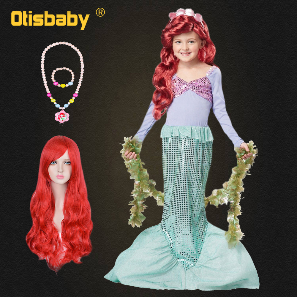 Autumn Girls Princess Ariel Cosplay Costume The Little Mermaid Dress Fantasy Kids Long Sleeve Christmas Halloween Party Dresses Autumn Girls Princess Ariel Cosplay Costume The Little Mermaid Dress Fantasy Kids Long Sleeve Christmas Halloween Party Dresses