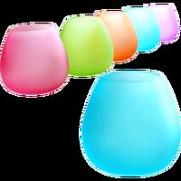 Мини Однотонная одежда эллипса Стекло Ваза Небольшой матовый свечах Стекло ваза, ваза для цветов Современный Цветочный зеленый гидропоник...