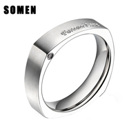 New Arrival Fine Fashion Forever Love Titanium Ring Engagement Wedding Ring Women Men Gift Silver Jewelry