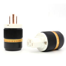 Viborg Pure copper us power connector IEC Female AC Power extension cable plug hifi