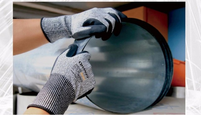 HPPE Foam Nirile Dipped Anti Cut Butcher Gloves ANSI Cut Resistant Safety Glove  Cut Proof Work Glove