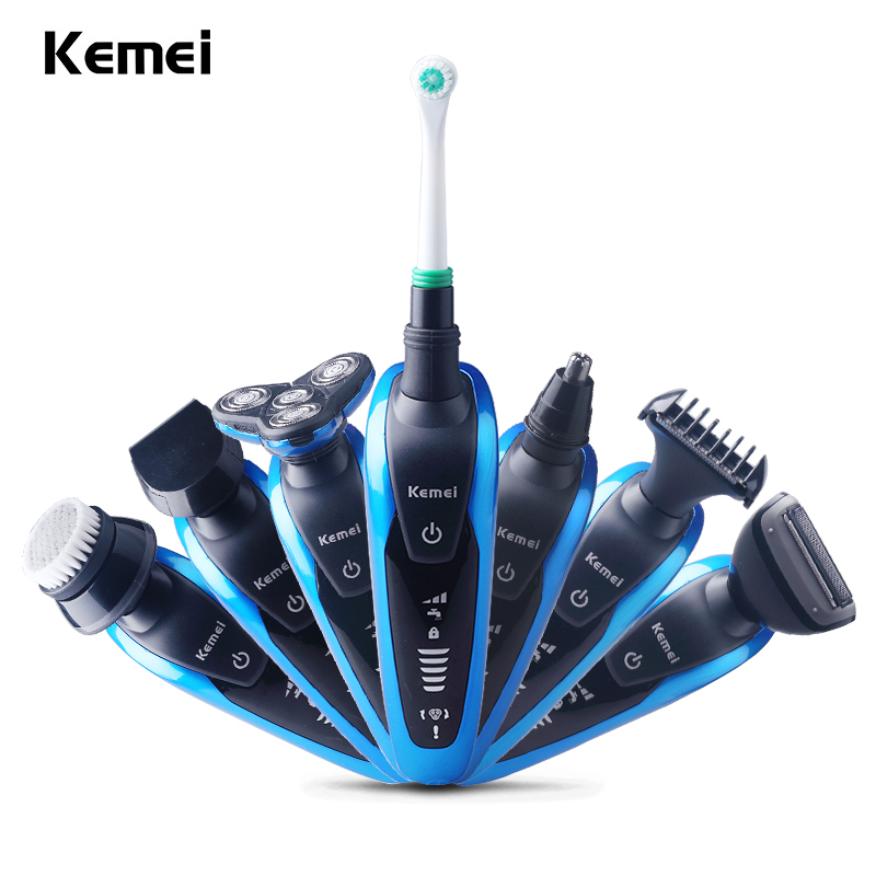 7 in 1 Washable Rechargeable Electric Shaver Triple Blade 3 in 1 Electric Shaving Razors Men Face Care 3D Floating original 3 in 1 washable rechargeable electric shaver triple blade