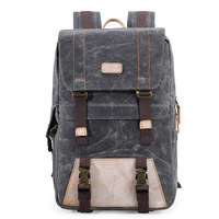 Batik Canvas DSLR Camera Backpack Waterproof Durable Bag fit 15in Laoptop for Photo Photographer Canon Nikon Sony Tripod Case