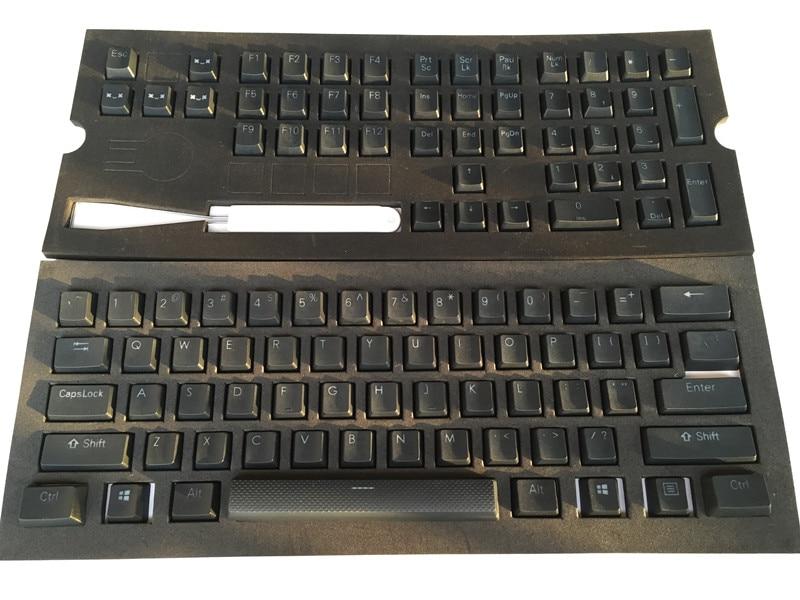 Black 108 key PBT Double shot Translucidus Backlit Keycaps For Corsair STRAFE K65 K70 Logitech G710+ Mechanical gaming Keyboard(China)