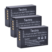 Tectra 3Pcs EN-EL20 ENEL20a Digicam Li-ion Battery for Nikon Coolpix A 1 AW1 J1 1 J2 1 J3 S1 1 V3 Blackmagic Pocket Cinema Digicam