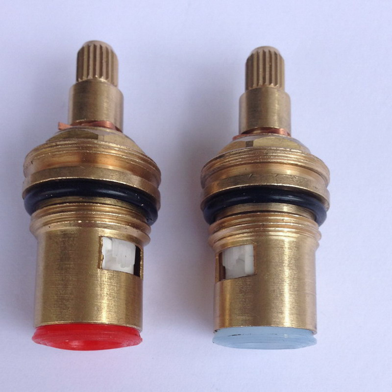 2 PCS 18mm Brass Replacement Ceramic Disc Tap Valves Cartridges Innards Hot Cold SPARES Kitchen Basin Bathroom Accessory Aba501