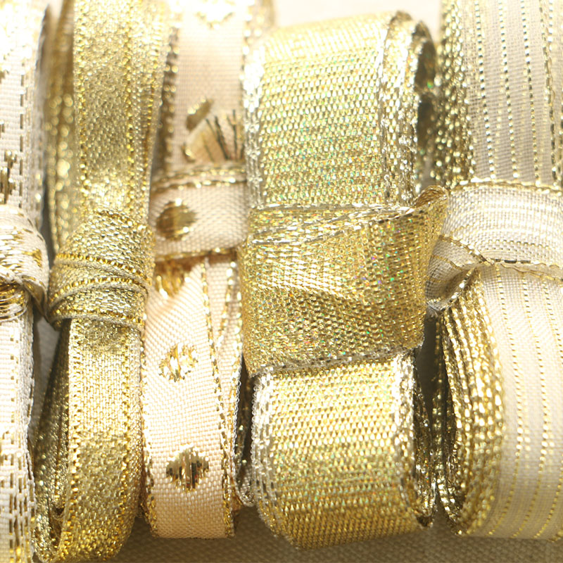 2 meter 2cm Gold or Silver Wedding Lace Gift Favor Wrap Craft Organza Ribbon