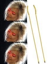 NEW Fashion 1Pair 2PCs LED Eyelashes Eyelid Red font b Glowing b font False Eyelashes For