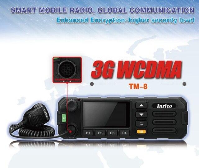 TM 8 mobil araç radyo 3G WCDMA GSM PTT mobil radyo araba kamyon için SIM kart ve WiFi ile TM 8 iki yönlü telsiz