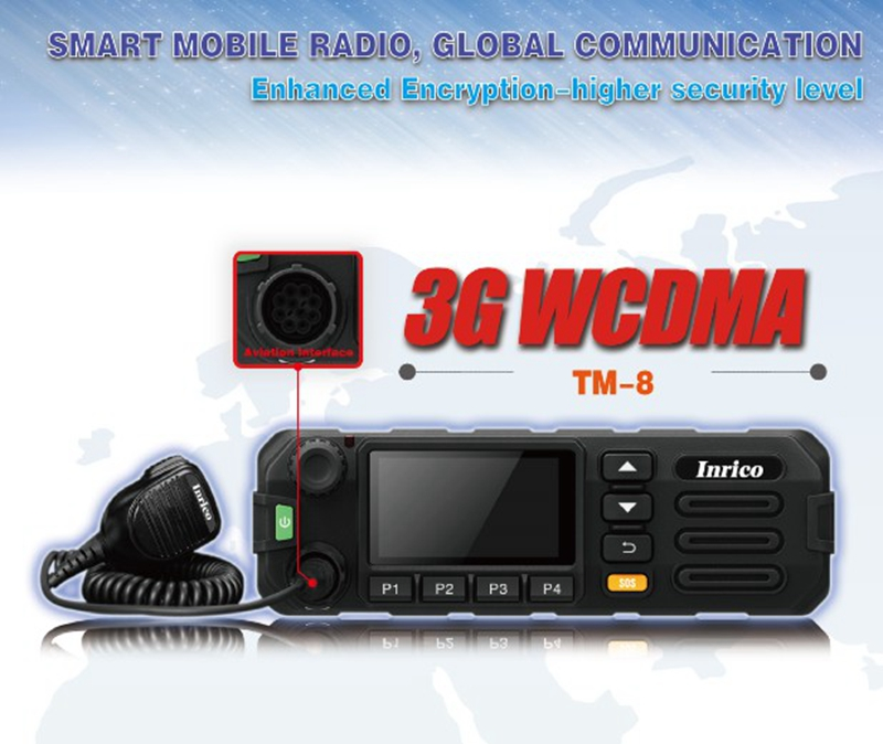 TM 8 mobile car radio 3G WCDMA GSM PTT mobile radio for car truck with SIM card and WiFi TM 8 two way radio-in Walkie Talkie from Cellphones & Telecommunications