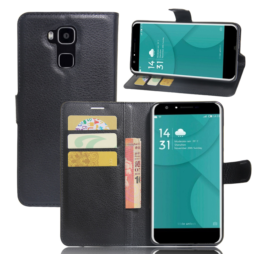 For Doogee Y6 case cover ,<font><b>New</b></font> <font><b>2017</b></font> Lychee leather wallet stand <font><b>phone</b></font> case cover For Doogee Y6