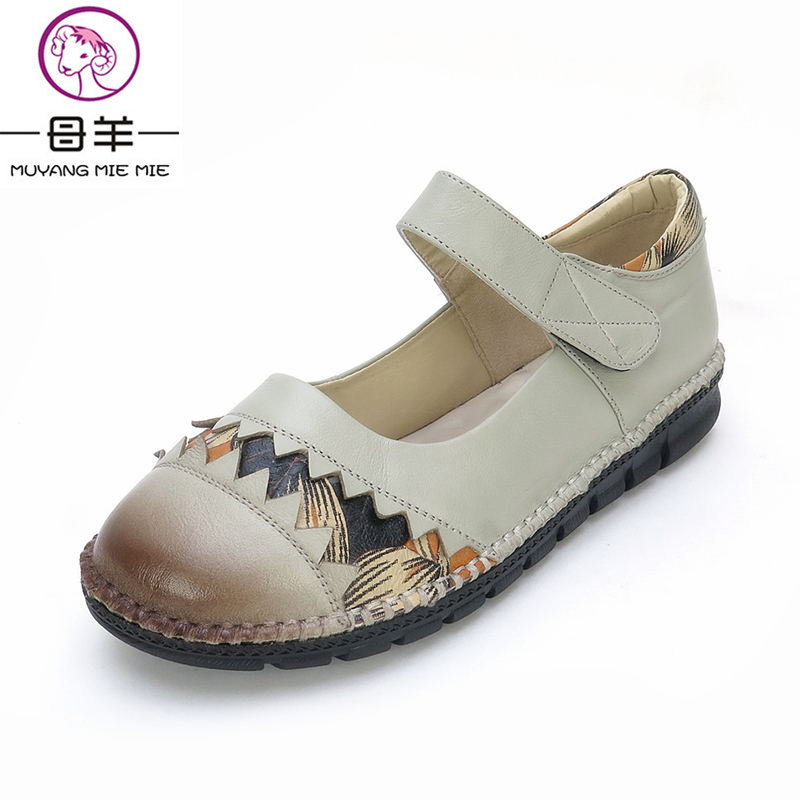 MUYANG MIE MIE Women Flats New Genuine Leather Handmade Flat Shoes Woman Casual Shoes Comfortable Women Shoes парогенератор mie bravissimo напольная вешалка mie a