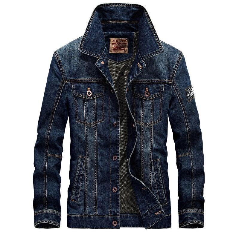 Coton 4xl Lonmmy Veste Mens Armée Militaire Multi Nouveau 2018 Blue Vestes Style poches Denim Manteaux Jeans M denim Blue Dark Et Hommes Manteau wtP0rq6P5