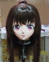 (KM110) Handmade Female Resin Crossdress Pretty Girl 3/4 Head Lolita Doll Mask Japanese Anime Cosplay Kigurumi Mask Crossdresser