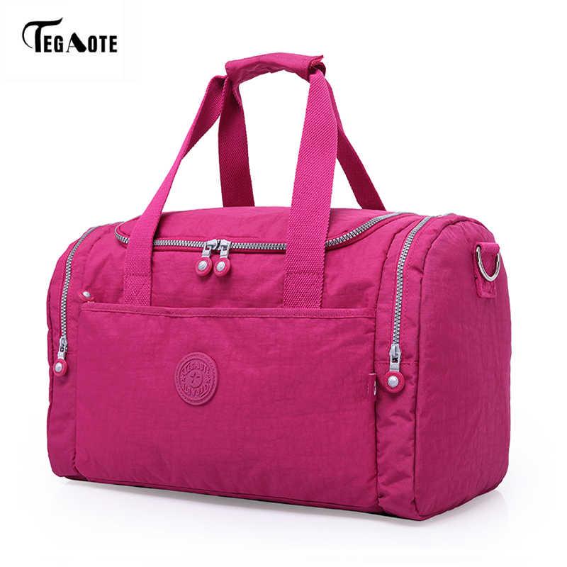 TEGAOTE модная дорожная сумка Большие женские сумки-шопперы для женщин 2019 багажная сумка для путешествий большие выходные туристическая Повседневная нейлоновая сумка