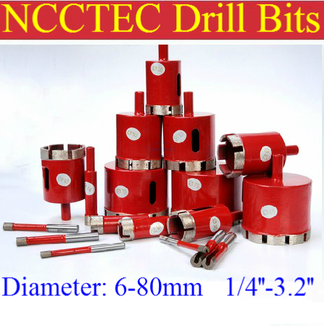 80mm Diamond Core Drill Bits FREE shipping | 3.2'' marble Ceramic tile stone core bits hole saw