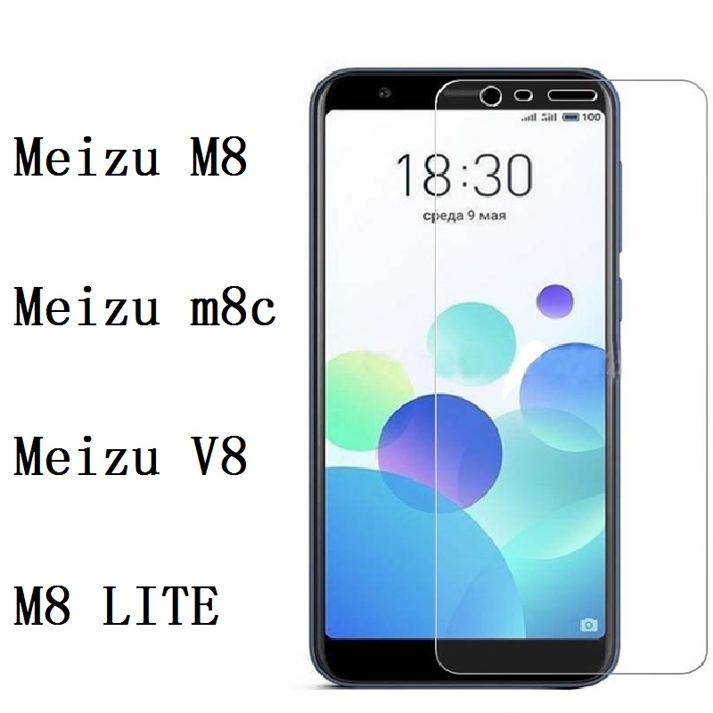 Premium Tempered Glass For Meizu M8/M8 LITE Screen Protector Toughened Protective Film For Meizu M8 C M8C V8 Case Glass