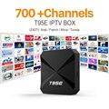 2017 Mejor 4 K Cielo UK DE Francés Italiano Árabe IPTV Box Europa iptv Caja con 1 año de Suscripción LEADTV Canal Árabe iptv Caja de la TV