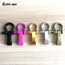 10pcs/lot Outdoor Camping Survival Rope Paracord Bracelets O-Shaped Stainless Steel Shackle Buckle