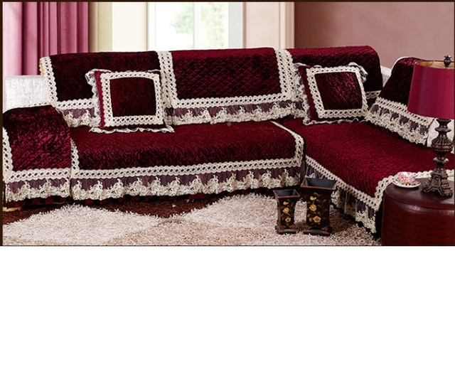 Attirant European Fabric Fashion Seasons Solid Colored Sofa Cover Velvet Sofa Cover  Slip Custom