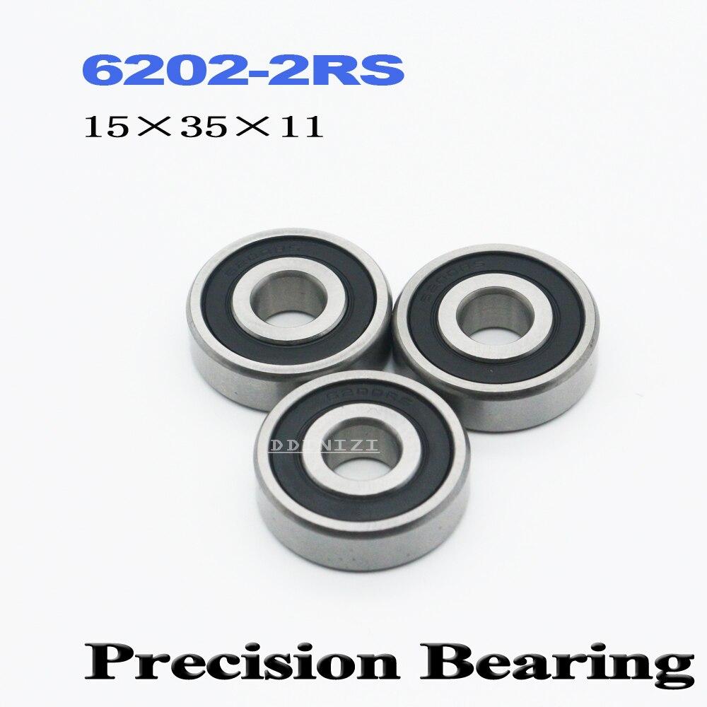 6202RS Bearing ABEC-3 15*35*11 Mm Deep Groove 6202 2RS Ball Bearings 180202 RZ 6202 2RZ EMQ Quality  (4 PCS)
