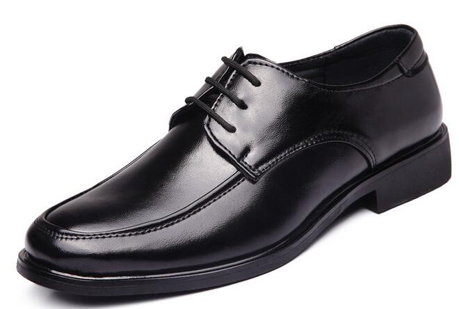 2017 Spring Autumn men leather casual shoes hot sale massage business men shoes lace up Zapatos