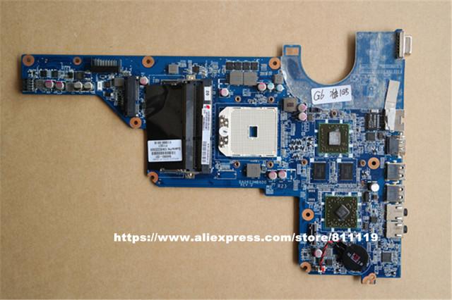 Envío gratis Original del ordenador portátil placa madre para G4-1000 G6-1000 649950-001 DA0R23MB6D0 HD6470 Socket FS1 DDR3 1 GB