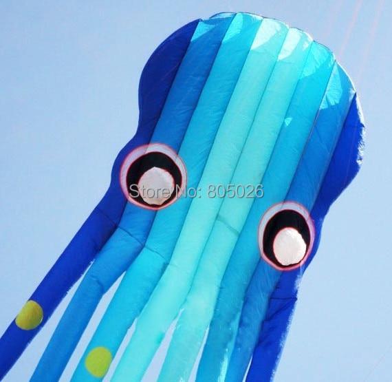 Высокое качество 15 М осьминог воздушный змей Мягкий тканевый воздушный змей прогулка в небе вэй кайт завод китайский кайт для продажи