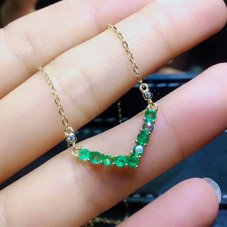SHILOVEM 925 sterling silver real Natural Emerald Pendants classic fine Jewelry women wedding wholesale new 4*6mm dlp040609agmlSHILOVEM 925 sterling silver real Natural Emerald Pendants classic fine Jewelry women wedding wholesale new 4*6mm dlp040609agml