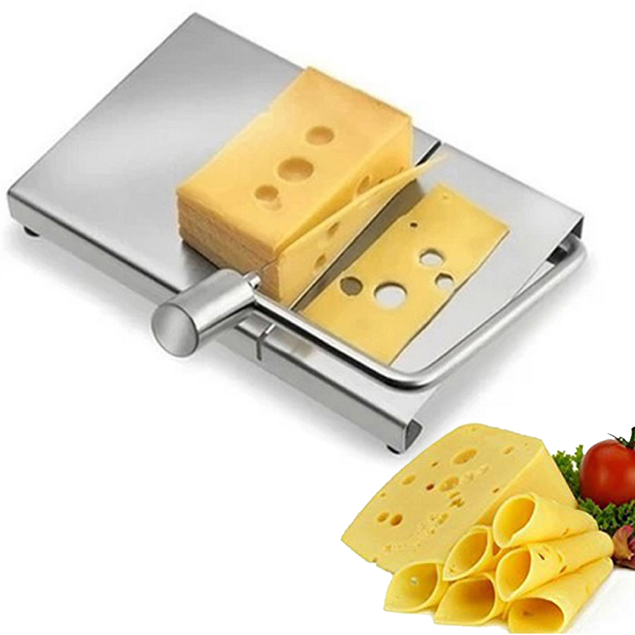 1PC <font><b>Cheese</b></font> Slicer Wire Cutter 5pcs Wire <font><b>Cheese</b></font> Cutting <font><b>Knife</b></font> Tools Serving <font><b>Board</b></font> Stainless Steel Hard Semi Hard <font><b>Cheese</b></font> Butter image
