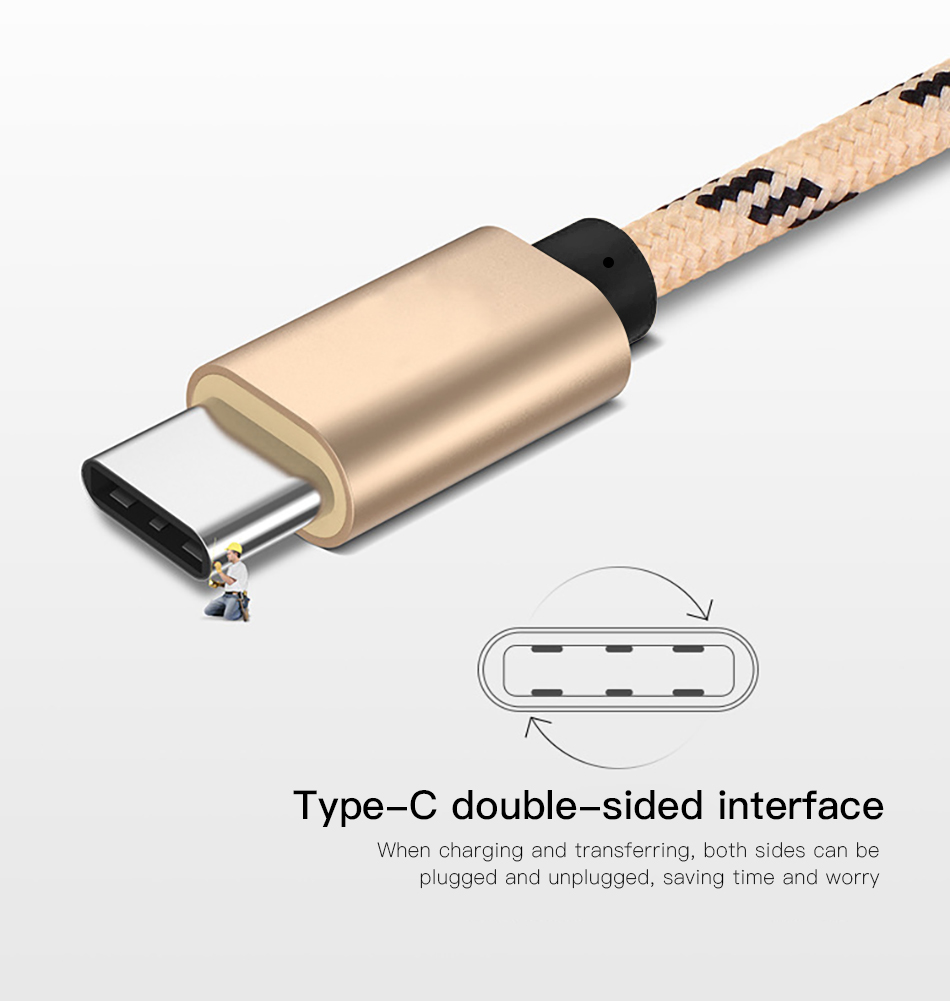 !ACCEZZ Type C USB Cable For Samsung S8 S9 Plus Oneplus 6 Fast Charging For Xiaomi 5 Mi8 Max 2 Huawei P20 Phone Charge Data Cord (2)