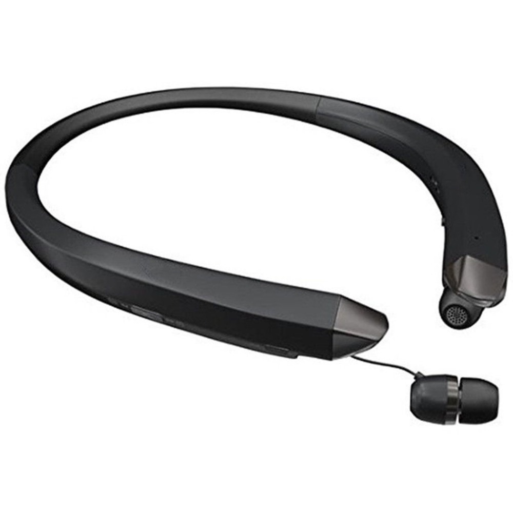 Bluetooth Headset Sport Stereo Wireless Headphone With Retractable Earbuds Dual-Mic Noise Reduction Earphone