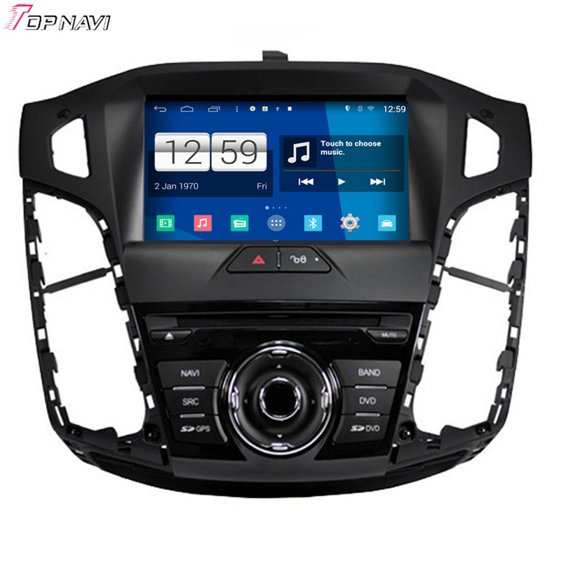 Free Shipping 8'' Quad Core S160 Android 4.4 Car DVD Multimedia For Focus 2012 With Stereo Radio GPS Mirror Link BT Wifi