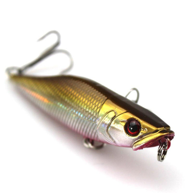 Walk Fishing 1Pcs 7cm 7.2g Popper Fishing Lures 3D Eyes Bait Crankbait Wobblers Isca Poper Pesca Japan fishing tackle 3