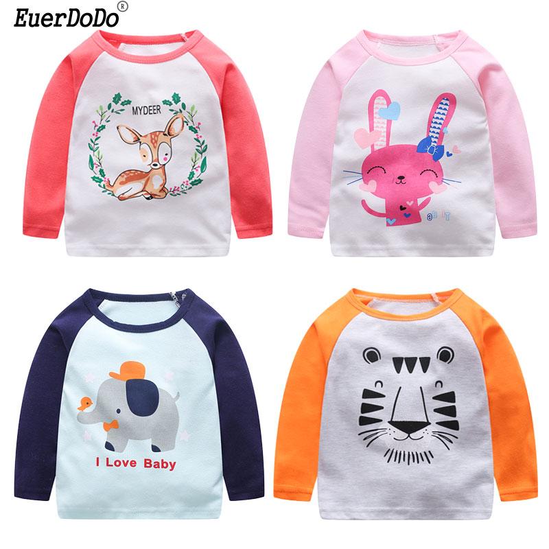 Girls T-Shirt Blouse Clothing Children Tops Long-Sleeve Toddler Baby Boy Cotton Cartoon