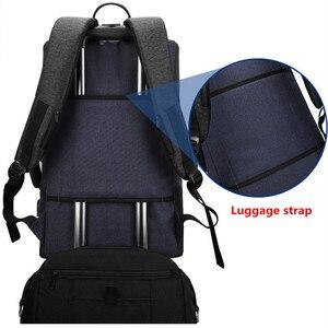 Image 4 - Мужской рюкзак BAIBU, многофункциональный водонепроницаемый рюкзак с защитой от кражи, 17 дюймов, USB, для ноутбука