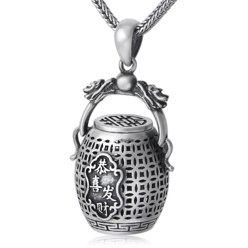 925 sterling silver jewelry auspicious jar pendant (FGL) кроссовки reef rover low fgl chocolate