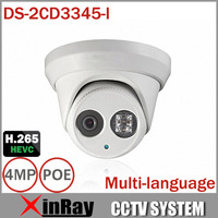 HIK 1080P Full HD 4MP Multi Language CCTV Camera DS 2CD3345 I POE IPC ONVIF Waterproof